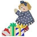 Christmas Doll with gifts cej