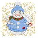 Angel Snowman Quilt