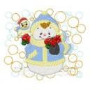 Candy Stick Snowman Quilt