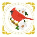 Red Robbin Quilt Block