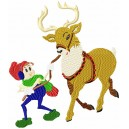 Raindeer and Elf